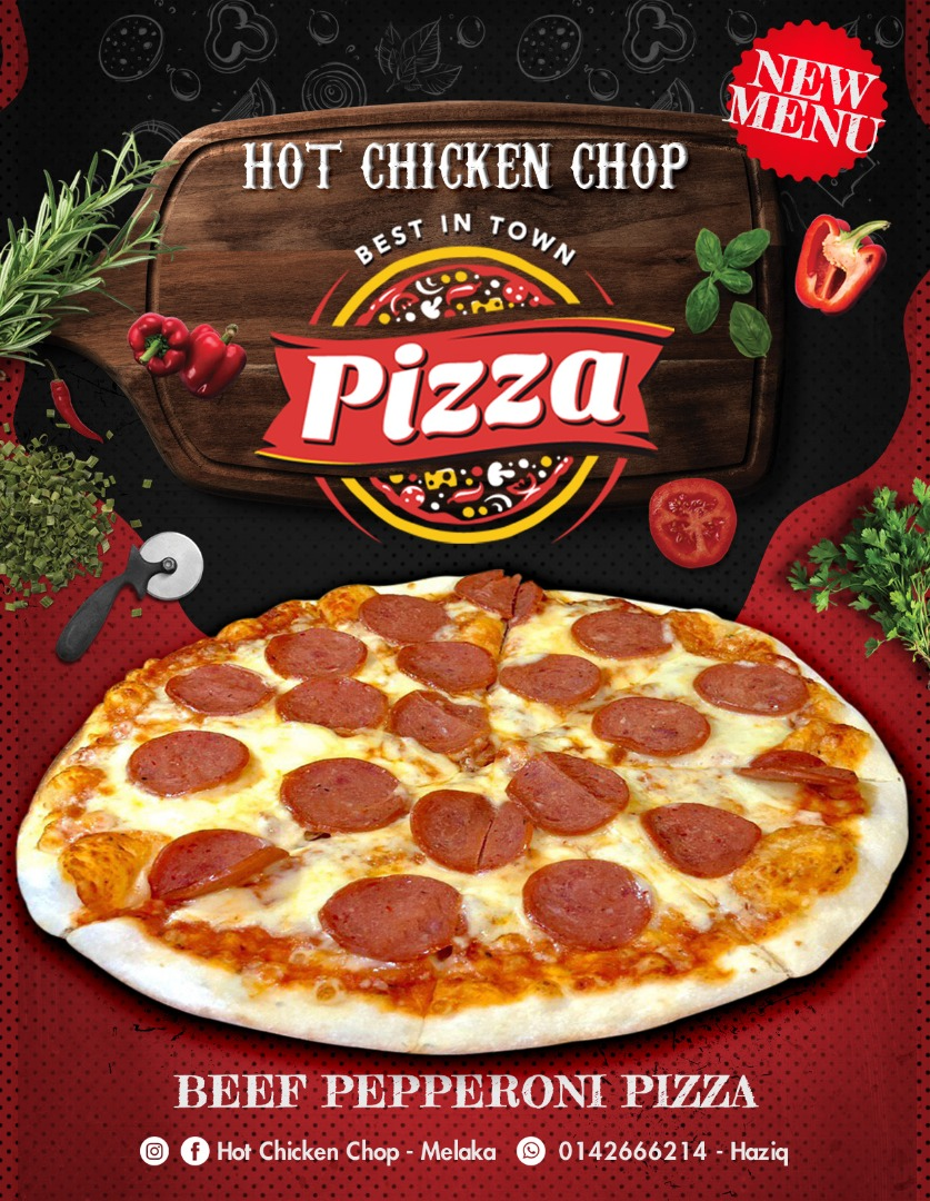 BEEF PEPPERONI PIZZA-HOTCHICKENCHOP